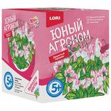 """Набор для выращивания растений ЮНЫЙ АГРОНОМ """"Душистый горошек"""", горшок, грунт, семена, LORI, Р-005"""