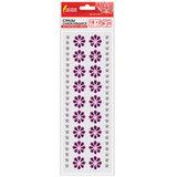 """Стразы самоклеящиеся """"Пурпурные цветы"""", 8-25 мм, 18 страз + 2 ленты, на подложке, ОСТРОВ СОКРОВИЩ, 661585"""