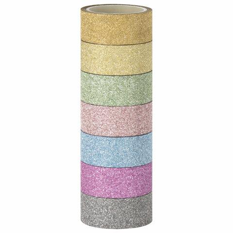 Клейкие ленты полимерные для декора с блестками