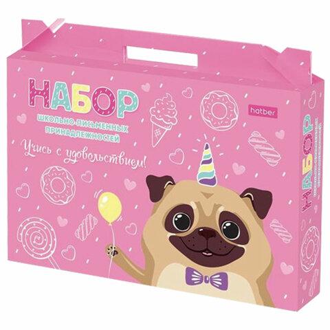 Набор школьных принадлежностей в подарочной коробке HATBER