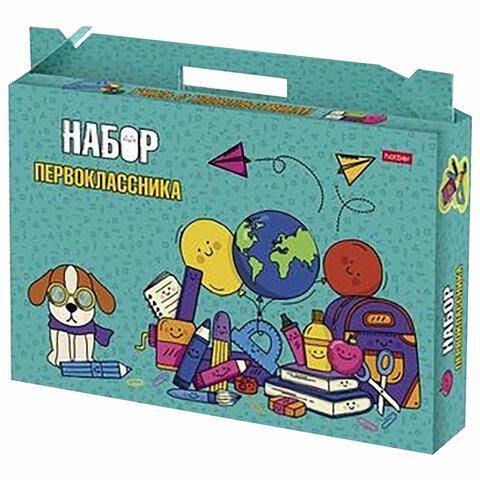 """Набор школьных принадлежностей в подарочной коробке HATBER """"Универсальный 27 предметов"""", Нп4_23390"""