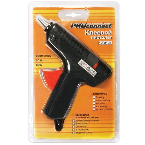 Клеевой пистолет 60 Вт для стержня 11 мм, PROCONNECT, в блистере, 12-0104