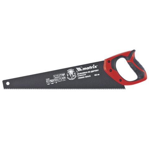 Ножовка по дереву 400 мм, MATRIX, 7-8TPI, зуб 3D, тефлоновое покрытие, двухкомпонентная рукоятка, 23549
