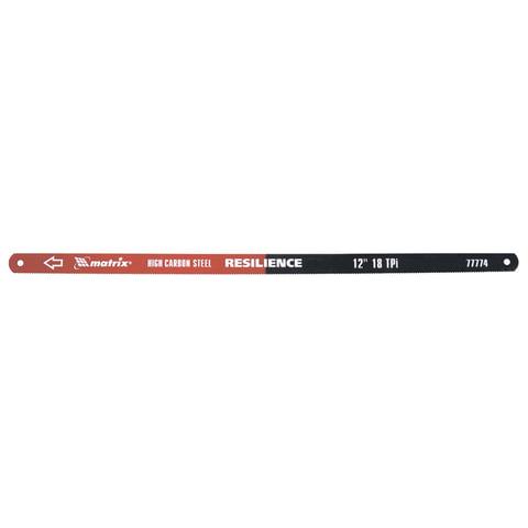 Полотна для ножовки по металлу 300 мм, MATRIX, комплект 2 шт., 18TPI, упругое полотно, каленный зуб, 77774