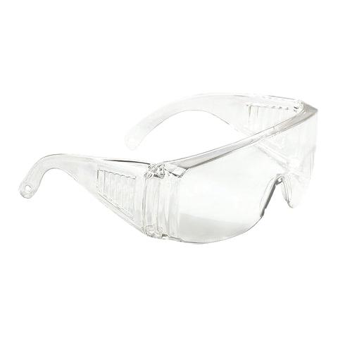 Очки защитные СИБРТЕХ, открытого типа, прозрачные, ударопрочный поликарбонат, 89155