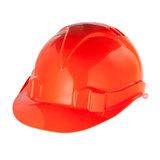 Каска защитная СИБРТЕХ, ударопрочный пластик, размер 52-66, оранжевая, 89113
