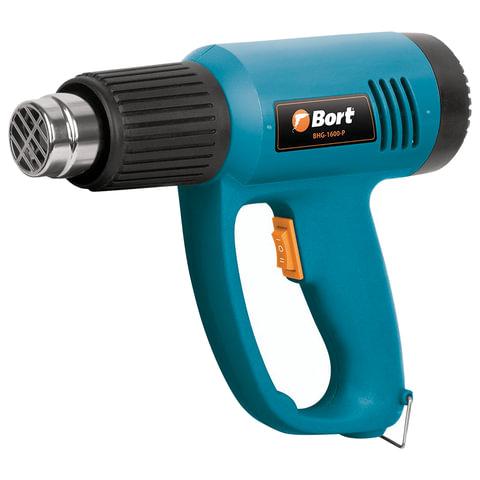 Фен технический, 1500 Вт, 300-500 градусов, 240-420 л/мин, BORT BHG-1600-P, 91271051