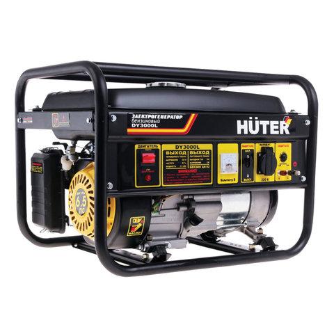 Электрогенератор Huter DY3000L, бензиновый, мощность 2,8 кВт, напряжение 220 В, ручной стартер, 64/1/4