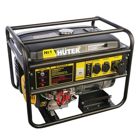 Электрогенератор Huter DY8000LX, бензиновый, 7,0 кВ, 220 В, ручной стартер/электростартер, 64/1/19