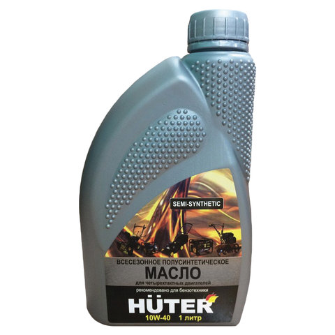 Масло моторное полусинтетическое, для четырехтактных двигателей, 1 литр, HUTER 10W-40, 73/8/1/1