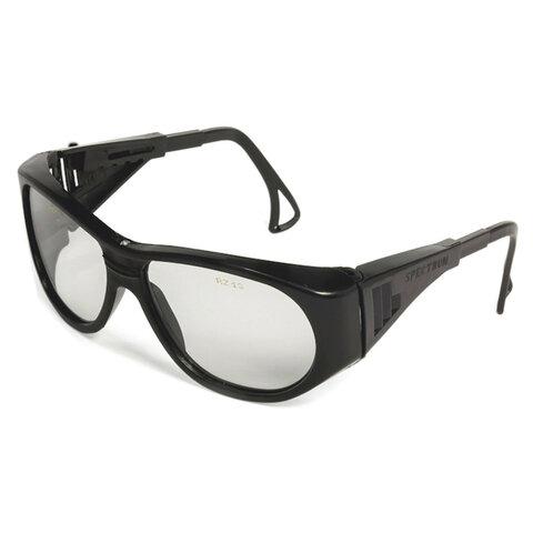 Очки защитные открытые РОСОМЗ О2 Spectrum, прозрачные, регулируемые дужки, защита от царапин, минеральное стекло, 10210