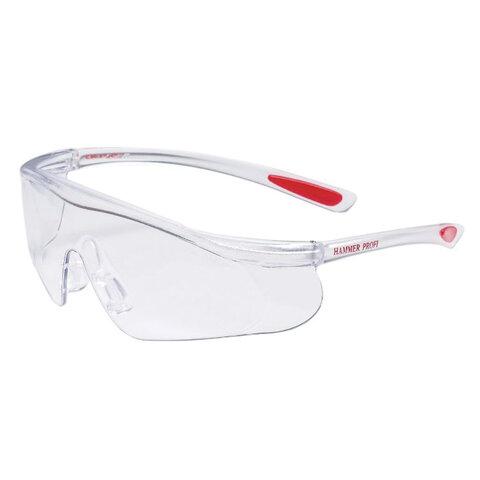 Очки защитные открытые РОСОМЗ О55 Hammer Profi super, прозрачные, незапотевающее покрытие, устойчивы к химическим веществам, поликарбонат, 15530