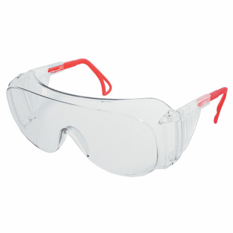 Очки защитные открытые РОСОМЗ О45 Визион super, прозрачные, регулируемые дужки, незапотевающее покрытие, поликарбонат, 14530