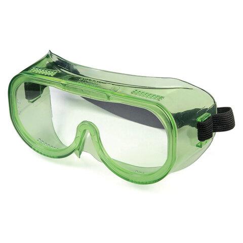 Очки защитные закрытые РОСОМЗ ЗП8 Эталон, прозрачные, прямая вентиляция, устойчивы к растворам кислот и щелочей, поликарбонат, 30811