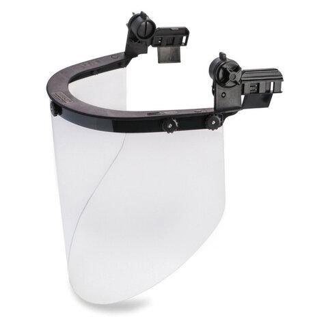 Щиток защитный лицевой РОСОМЗ КБТ Визион Titan, экран из поликарбоната 220х385мм, толщиной 2 мм, универсальное накасочное крепление, 4390