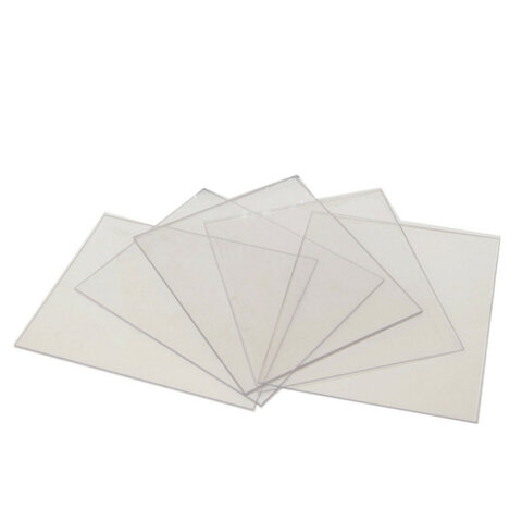 Стекла покровные для маски сварщика РОСОМЗ, поликарбонат, 110х90 мм, комплект 10 шт., 230