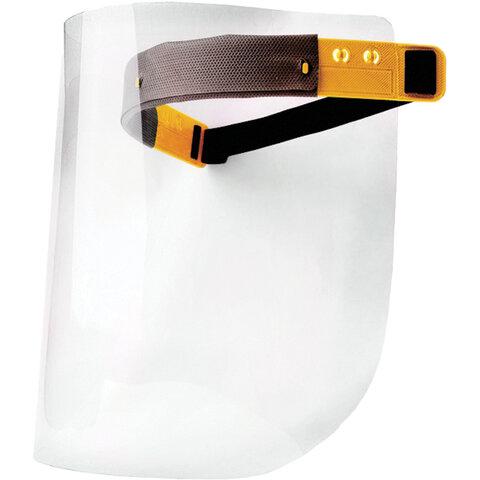 Щиток защитный лицевой с наголовным креплением, экран ПЭТ (полиэтилентерефталат) толщиной 0,5 мм, РОСОМЗ Пионер, 440940