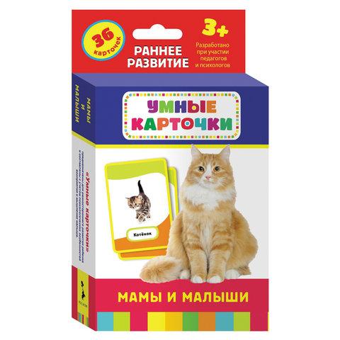 """Карточки развивающие """"Мамы и малыши"""", Котятова Н.И., Росмэн, 21004"""