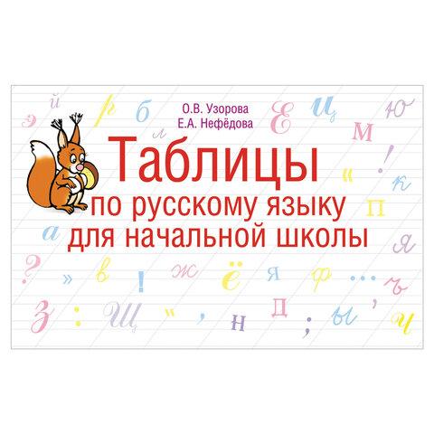 Таблицы по русскому языку для начальной школы, Узорова О.В., 41907