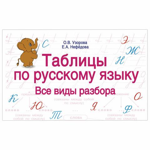 Таблицы по русскому языку. Все виды разбора, Узорова О.В., 833436