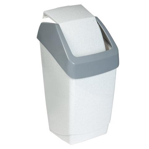 Ведро-контейнер 7 л С КРЫШКОЙ (качающейся), для мусора,