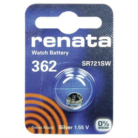 Батарейка RENATA, R362 (SR721SW), 1 шт., в блистере, T07634