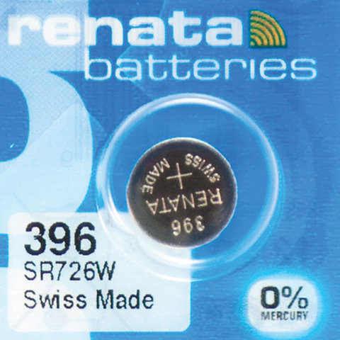 Батарейка RENATA, R396 (SR726W), 1 шт., в блистере, T07655